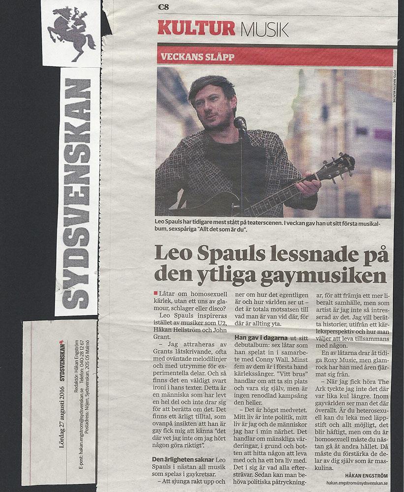 leo-spauls-intervju-sydsvenska-dagbladet-alternativ-pridelat-dr-benway
